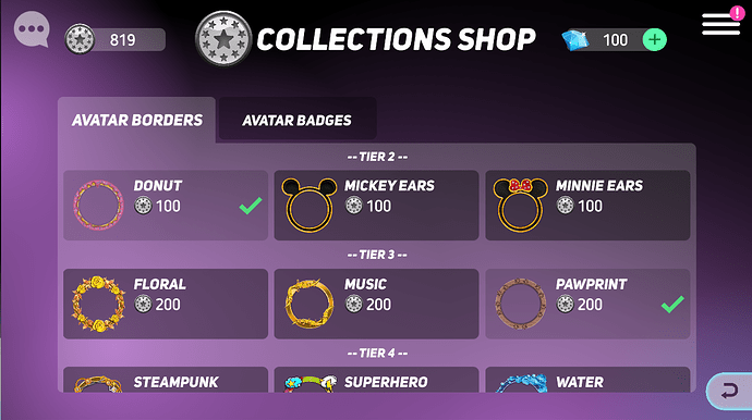 Collections Shop